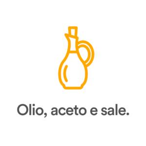 Olio, aceto e sale